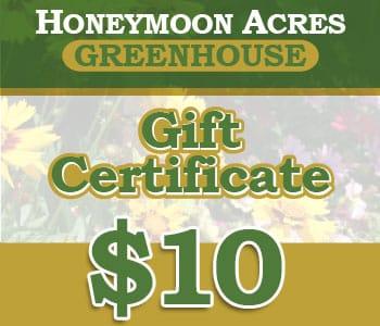 Honeymoon Acres Gift Certificate - $10