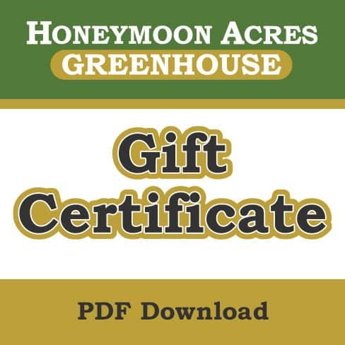 Honeymoon Acres gift certificate (PDF download).